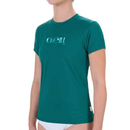O'Neill Skins Rash Guard - UPF 50+, Short Sleeve (For Women) in Deep Teal - Closeouts