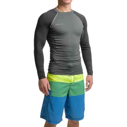 O'Neill Skins Stitchless Rash Guard - UPF 50+, Long Sleeve (For Men) in Graphite/Black - Closeouts