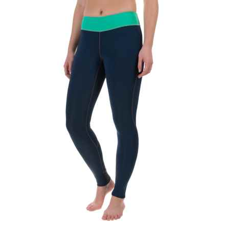 O'Neill Supertech Leggings - UPF 50+ (For Women) in Navy/Seaglass/Navy:Light Grapefruit - Closeouts