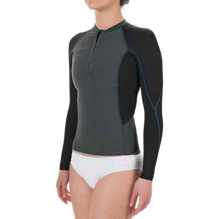 O'Neill Supertech Rash Guard - UPF 50+, Long Sleeve (For Women) in Graphite/Black:Sky - Closeouts
