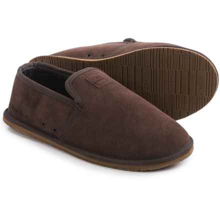 O'Neill Surf Turkey Low Suede Slippers (For Men) in Dark Brown - Closeouts