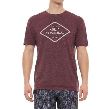 O'Neill Tuna Roll T-Shirt - Short Sleeve (For Men) in Burgundy Heather - Closeouts