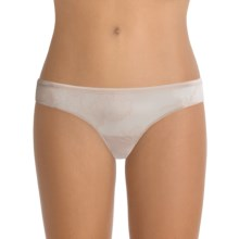 OnGossamer Floral Mesh Thong Panties (For Women) in Champagne - Closeouts