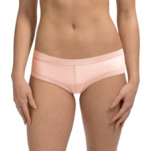 OnGossamer Gossamer Mesh Panties - Boy Shorts, Low Rise (For Women) in Champagne - Closeouts