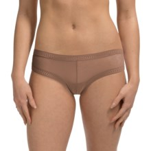 OnGossamer Gossamer Mesh Panties - Boy Shorts, Low Rise (For Women) in Skin - Closeouts