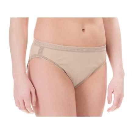 OnGossamer Mesh Hi-Cut Panties - Briefs (For Women) in Champagne - Closeouts