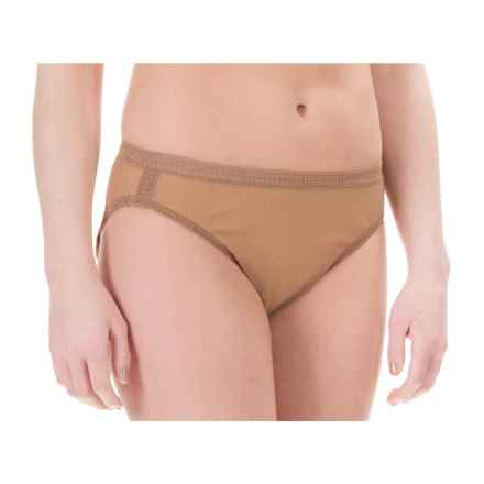 OnGossamer Mesh Hi-Cut Panties - Briefs (For Women) in Skin - Closeouts