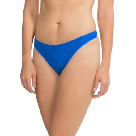OnGossamer Mesh Hip-G Thong - Underwear (For Women) in Laser Blue - Closeouts