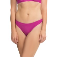 OnGossamer Mesh Hip-G Thong - Underwear (For Women) in Magenta - Closeouts