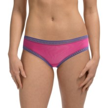 OnGossamer Mesh Hip Panties - Boy Shorts (For Women) in Pink Charm W/Passion - Closeouts