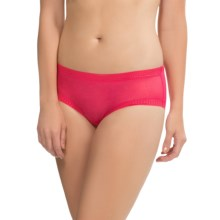 OnGossamer Mesh Hip Panties - Boy Shorts (For Women) in Pomegranate - Closeouts