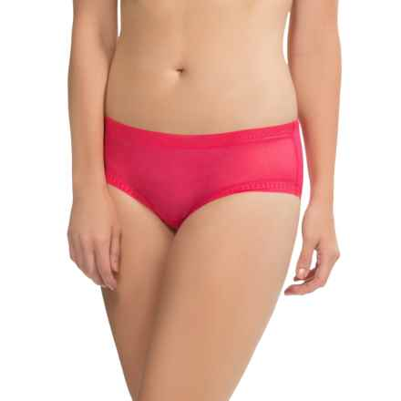 OnGossamer Mesh Hip Panties - Boy Shorts (For Women) in Pomegranate - Closeouts