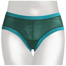 OnGossamer Mesh Hip Underwear - Low Rise, Boy Shorts (For Women) in Rainforest/Turquoise W/Caicos - Closeouts