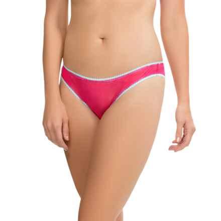 OnGossamer Mesh Panties - Bikini Briefs, Low Rise (For Women) in Pomegranate - Closeouts
