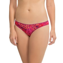 OnGossamer Mesh Print Panties - Hipster Bikini (For Women) in Splattered Paint - Closeouts