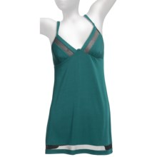 OnGossamer Whisper Knit Nightie - Stretch Modal, Adjustable Straps (For Women) in Rainforest - Closeouts