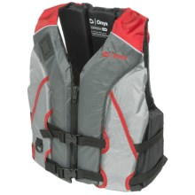 Onyx All-Adventure Shoal Type III PFD Life Jacket (For Men and Women) in Red - Closeouts
