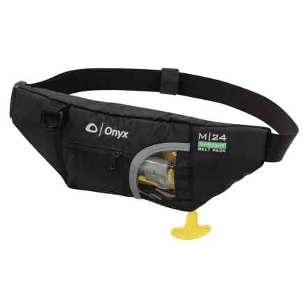 Onyx M-24 In-Sight Type III PFD Manual Inflatable Life Jacket Belt Pack in Black - Closeouts