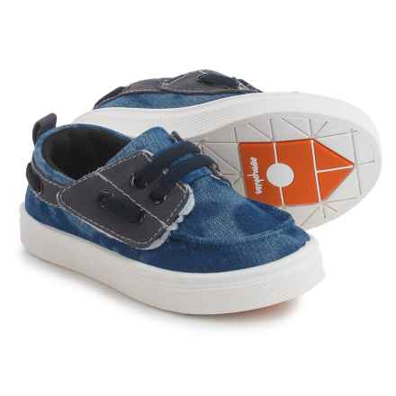 Oomphies Jesse Boat Shoes (For Little Kids) in Blue - Closeouts