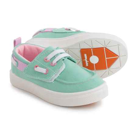 Oomphies Jesse Boat Shoes (For Little Kids) in Mint Green - Closeouts