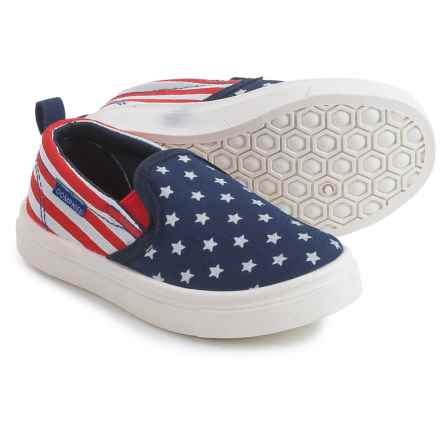 Oomphies Rascal Slip-On Shoes (For Little and Big Kids) in Red/White/Blue - Closeouts