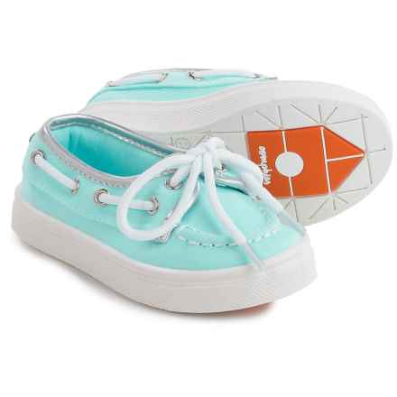 Oomphies Sophia Boat Shoes (For Little and Big Girls) in Light Blue - Closeouts