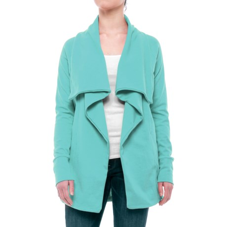 Open-Front Cardigan Sweater (For Women) in Blue