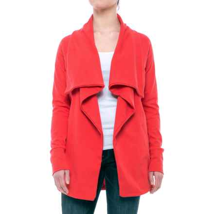 Open-Front Cardigan Sweater (For Women) in Red - 2nds