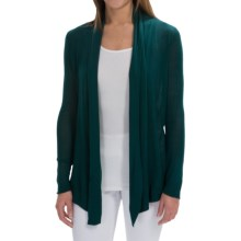 Open-Front Rayon Cardigan Sweater (For Women) in Green - 2nds