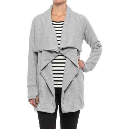 Open-Front Sweater Jacket (For Women) in Grey - 2nds