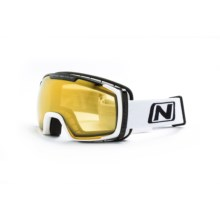 Optic Nerve Cortez Ski Goggles in Shiny White/Amber - Closeouts