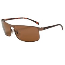 Optic Nerve Haxtun Sunglasses - Polarized in 2Tone Brown/Brown - Closeouts