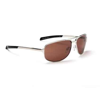 Optic Nerve Mercury Sunglasses - Polarized in Silver/Copper - Overstock