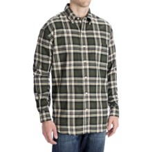 Options Attic Flannel Plaid Shirt - Long Sleeve (For Men) in Loden - Closeouts