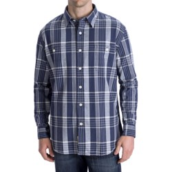 Options Canvas Plaid Shirt - Long Sleeve (For Men) in Canvas Blue