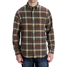 Options Country Twill Plaid Shirt - Long Sleeve (For Men) in Brown - Closeouts