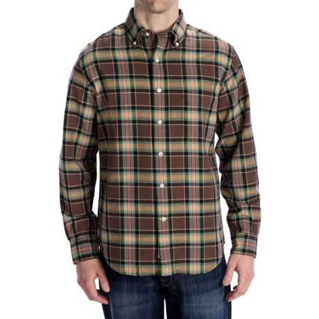 Options Country Twill Plaid Shirt - Long Sleeve (For Men) in Brown
