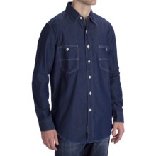 Options Indigo Denim Shirt - Long Sleeve (For Men) in Dark Indigo - Closeouts