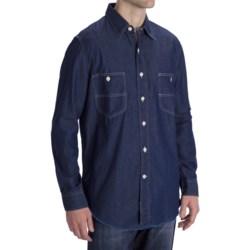 Options Indigo Denim Shirt - Long Sleeve (For Men) in Dark Indigo