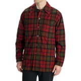 Options Log Cabin Plaid Shirt Jacket - Wool, Long Sleeve (For Men)