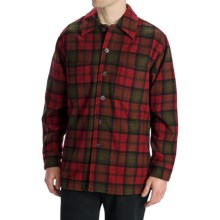 Options Log Cabin Plaid Shirt Jacket - Wool, Long Sleeve (For Men) in Red/Black - Closeouts