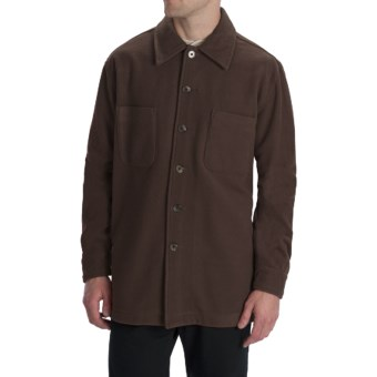 Options Shirt Jacket - Wool-Cashmere, Long Sleeve (For Men) in Chocolate Brown