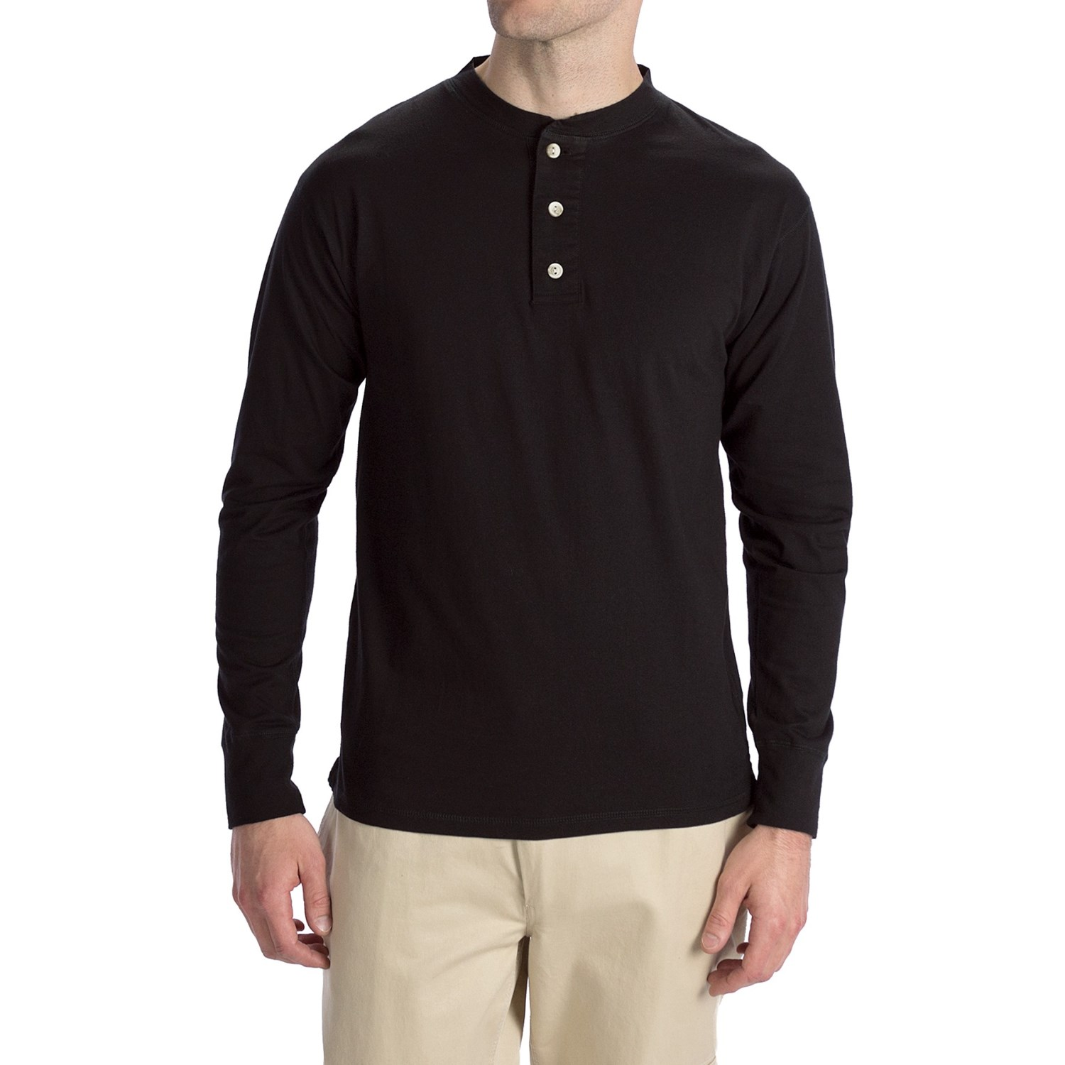 options top dyed jersey henley shirt cotton long sleeve