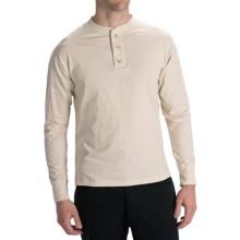 Options Top-Dyed Jersey Henley Shirt - Cotton, Long Sleeve (For Men) in Vintage - Closeouts