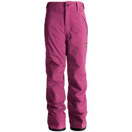 Orage Alex Reinforced Snow Pants - Waterproof, Insulated (For Little and Big Kids) in Rosa - Closeouts