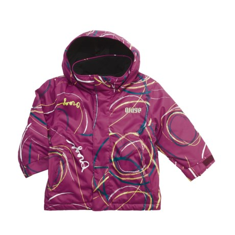 Orage Chinook Ski Jacket - Insulated (For Boys) in Swirl Berry