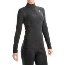 Orage Cozy Base Layer Top - Zip Neck, Long Sleeve (For Women) in Black - Closeouts