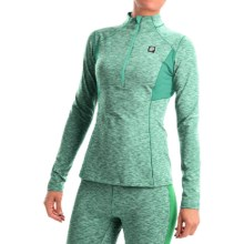 Orage Cozy Base Layer Top - Zip Neck, Long Sleeve (For Women) in Green - Closeouts