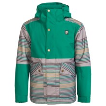 Orage Edwards Ski Jacket - Waterproof, Insulated (For Little and Big Boys) in Bottle Green Stripe - Closeouts