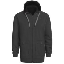 Orage Flee Fleece Sweatshirt - Full Zip, Hooded (For Men) in Black - Closeouts